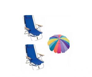 backpack beach chair set